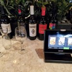 Wine sampling is available; infernal machine at right