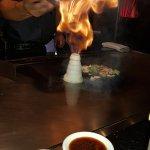 The habachi chef working his magic