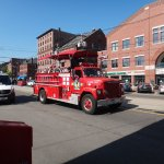 Old time fire truck tour of Portland Me.