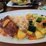 Tandoori Mahi Mahi, veggies and island rice. Mmmmm..