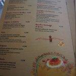 Farina Italian Restaurant Mykonos Greece August 2017 Menu
