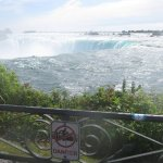 View of Niagara Falls from the platform next to it