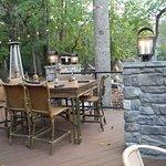 Outdoor seating at Appalacian Bistro