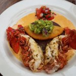 Empanada Langosta - lobster tail and spinach empanada - SO DELICIOUS $18.00