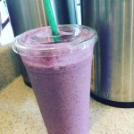 Real fruit smoothies: Pictured: mango blueberry