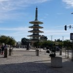 Friendship Tower in Center of Japan Town