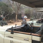 Getting ready to go on the game drive