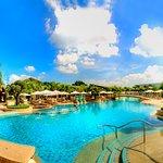 enjoy the 63 meter long pool.