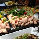 Seafood buffet - salmon