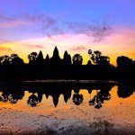 Beautiful sunrise over Angkor Wat, the 8th Wonder of the World