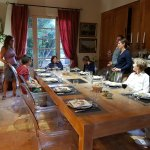 """After a lovely """"apéro"""" with Béatrice and fellow guests, we had a delicious dinner..."""