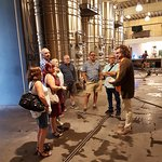 Learning the process of making wine from our guide Carlos