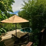 The plunge pool at villa 7.