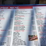 There current menu