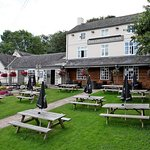 Front beer garden - The Greyhound Inn Burton-on-the-Wolds
