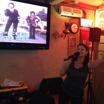 This is me (Angie) on the Karaoke