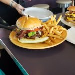 California Burger with fries