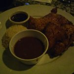Medio Pollo al Horno* /  Half Roasted Chicken w/ Raspberry Sauce