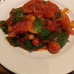 Chicken calabrese, chicken is under the veg and sauce was a big portion.