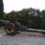 An old WW1 artillery piece