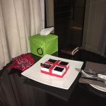 My husband's birthday cake provided by the Kempinski Nile Hotel. So sweet of them!