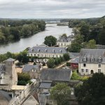 View from the Amboise Castle of the hotel