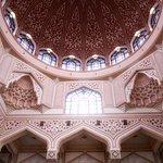 Interior of the Putra Mosque in Putrajaya