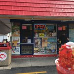 Enjoying ice cream at a good, old time Dairy Queen!