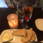 Home made fresh bread, good wine, and candle holder locally made!