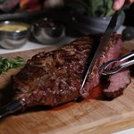 Bottom sirloin steak  grilled with Brazilian Heritage in our local steakhouse in Clear Lake / We
