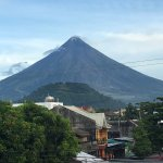 An early morning view of Mayon volcano. The local wisdom suggest 6 am viewing offers the best vi