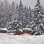 Winter magic, Garden Cabins