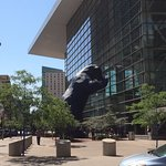 Denver Convention Center...the bear wants in.