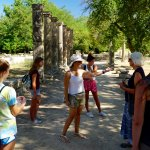 Niki and our family at the Olympia Archaeological site.