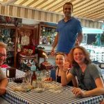Great lunch with the funniest host in Kas!