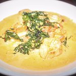 Gluten free shrimp and scallop grits