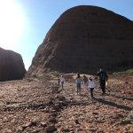 kids walking with the guide on the short walk at Kata Tjuta