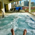 enjoy the warm bubble bath pool with amazing city/river View