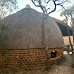 The thatched rooms are a marvel of architecture!