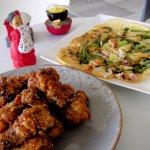 Korean Fried Chicken & Haemul Jeon (Seafood pancake)