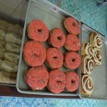 These donuts and cinamon rolls were huge.....