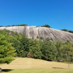 A view of Stone Mountain from the Stone Mountain Loop Trail near the homestead