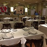 Vista de las mesas del restaurante