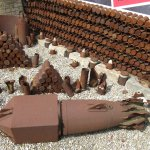ammunition display outside the building