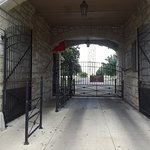 gated entrance. Walk through only