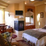 Evergreen Room on the first floor has a huge en suite bathroom. Lg. deck outside private entry d