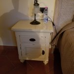 """1950's Nightstand? Not sure the significance of the """"period"""" furniture."""