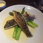 Branzino in Lemon Butter Sauce with Asparagus