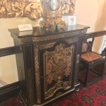 Gorgeous Victorian cabinet and clock.