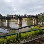 Early Morning walk to the Bridge over the River Kwai....